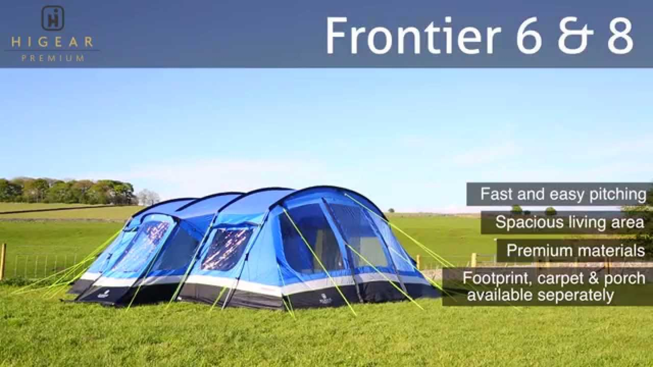 & Hi Gear Premium Frontier 6 u0026 8 Family Camping Tent - YouTube