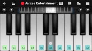Zaalima (Raaes), Arijit Singh, Shahrukh Khan - Easy Mobile Perfect Piano Tutorial