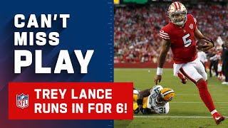 Nice TD by Trey Lance but Trent Williams Being a Bully on National Television 🤣