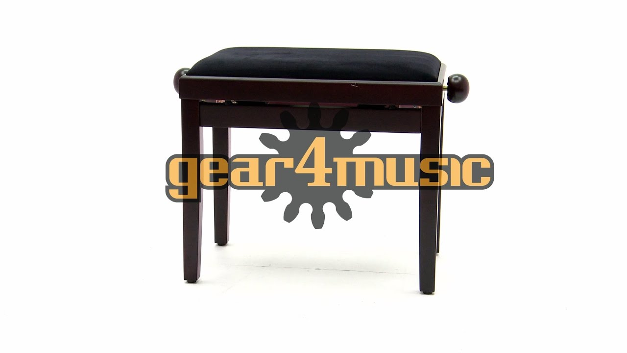 Adjustable Piano Stool By Gear4music