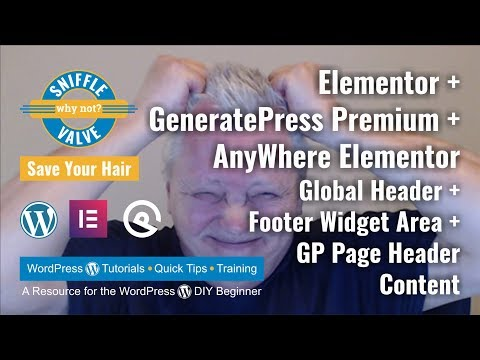 Elementor and GeneratePress Premium with the Anywhere Elementor plugin