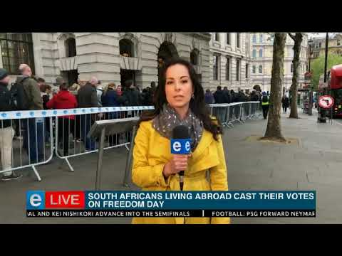 South Africans living abroad cast their votes