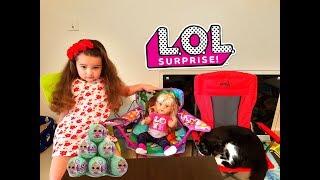 8 Марта РОЗЫГРЫШЬ ШАРОВ ЛОЛ от Лизы and baby Born and YouTube  Подарки  Surprise Dolls LOL