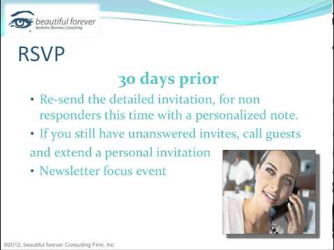 Aesthetic Business - Planning a Successful Event- Part 9 - Handling RSVPs