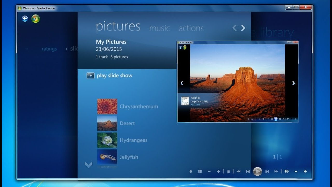 how to create slideshow with music windows 7 media center