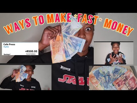 Ways to make *FAST* money as a teenager (also in south Africa) #southafrica #teenager #money