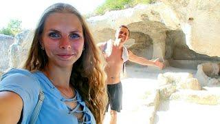 длинноvlog ☀️ Потрясающий пещерный город в Крыму Эски-Кермен лучшая заправка Атан