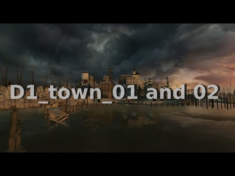 Half-Life 2 Beta: d1_town_01 and 02 (2002)