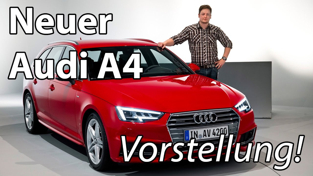 vorstellung neuer audi a4 b9 avant 2016 im detail weltpremiere youtube. Black Bedroom Furniture Sets. Home Design Ideas