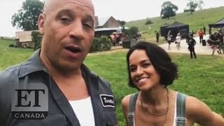 On Set Of 'Fast 9' With Vin Diesel and Michelle Rodriguez