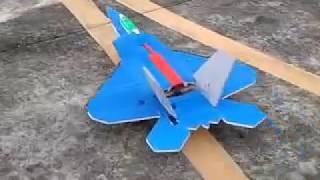 jet f22 reptor biru