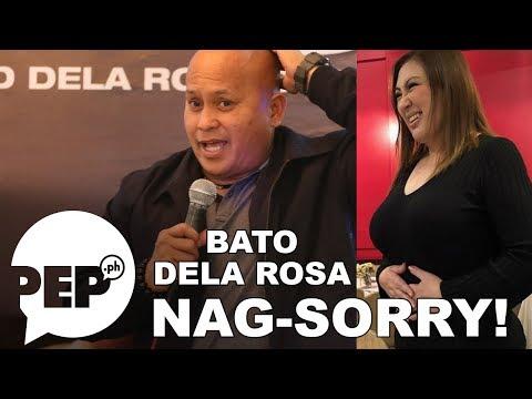 Bato dela Rosa napa-sorry agad nang banggitin ang hugis ng katawan ni Sharon Cuneta