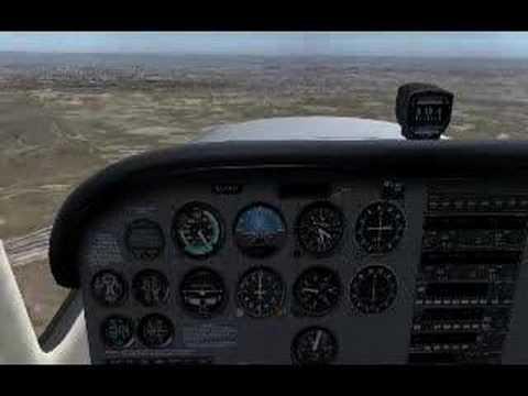 C172r skyhawk IVAO VFR over Madrid (spain) land at LECU