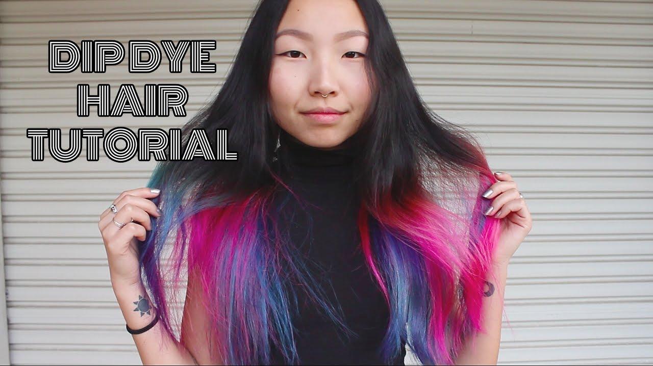dip dye hair purple and pink - photo #34