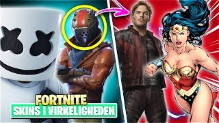 10 Fortnite Skins and where they come from! 🎬