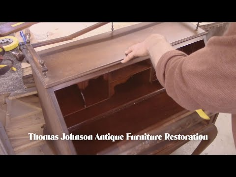 Restoring an Antique Lady's Writing Desk - Thomas Johnson An
