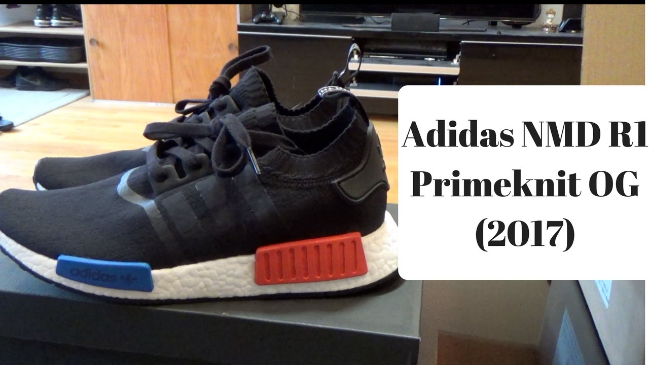 Adidas Nmd Pk R1 Tri Color Size 12 Primeknit White Black Red Glitch