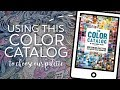 Using a Color Catalog to build our palette on this mermaid!  -- A PencilStash Coloring Tutorial