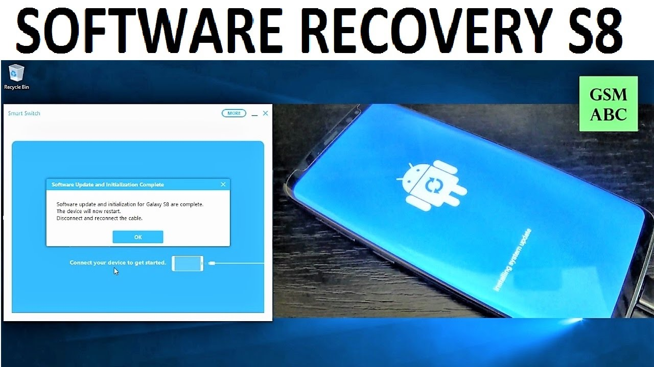 SOFTWARE RECOVERY Samsung Galaxy S8, S8+ and NOTE 8 | How to