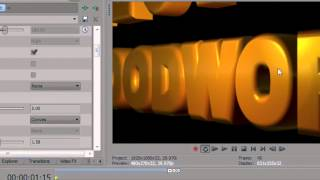 BCC Extruded Text in Sony Vegas Pro 10