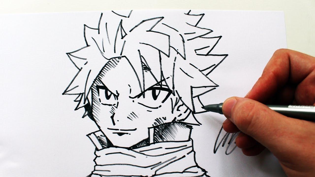 como desenhar o natsu dragneel fairy tail how to draw natsu