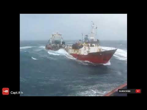 Fishing Boat In Rough Sea