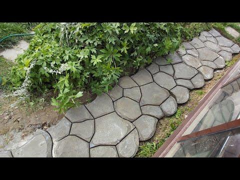 Дорожка в саду из формы. Все особенности и тонкости