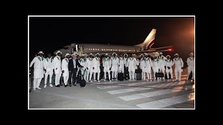 Nigeria Super Eagles arrive in Russia for the World Cup, fashionable and focused