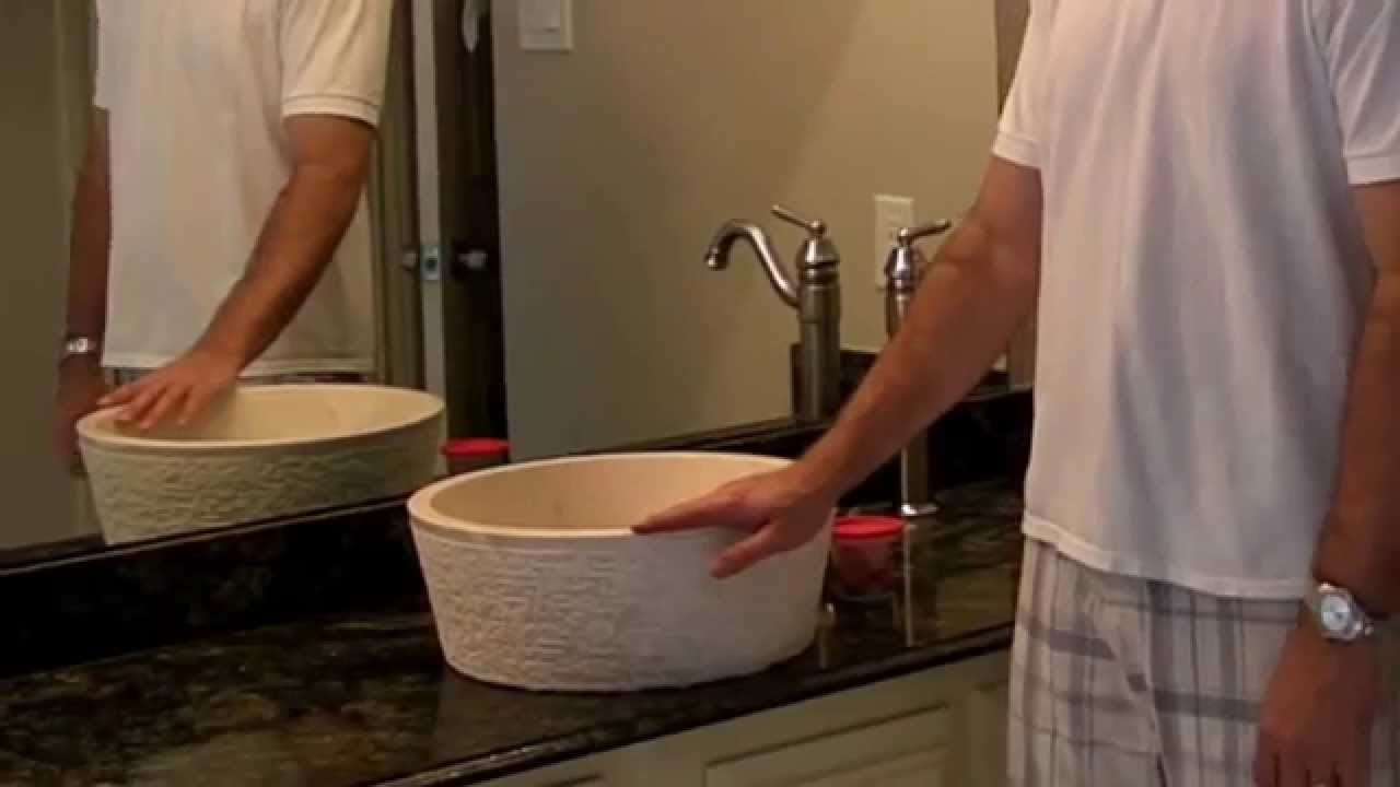 Installing A Stone Vessel Sink By Tashmart Youtube