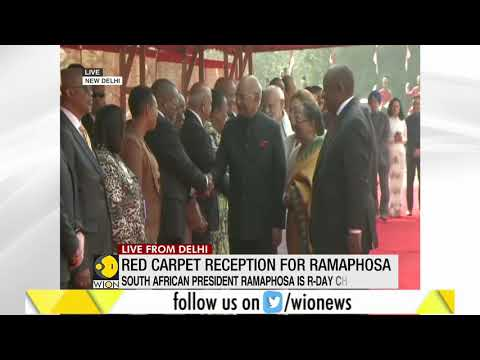 India welcomes South African president Cyril Ramaphosa