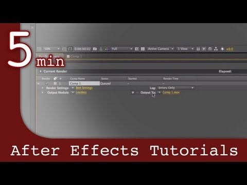 After Effects Tutorial: Rendering In After Effects Lesson