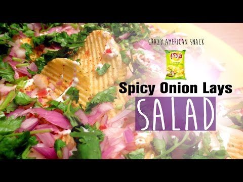 Creamy Onion Lays Salad   Instant Quick Recipe for Evening Snacks   With Potato Chips