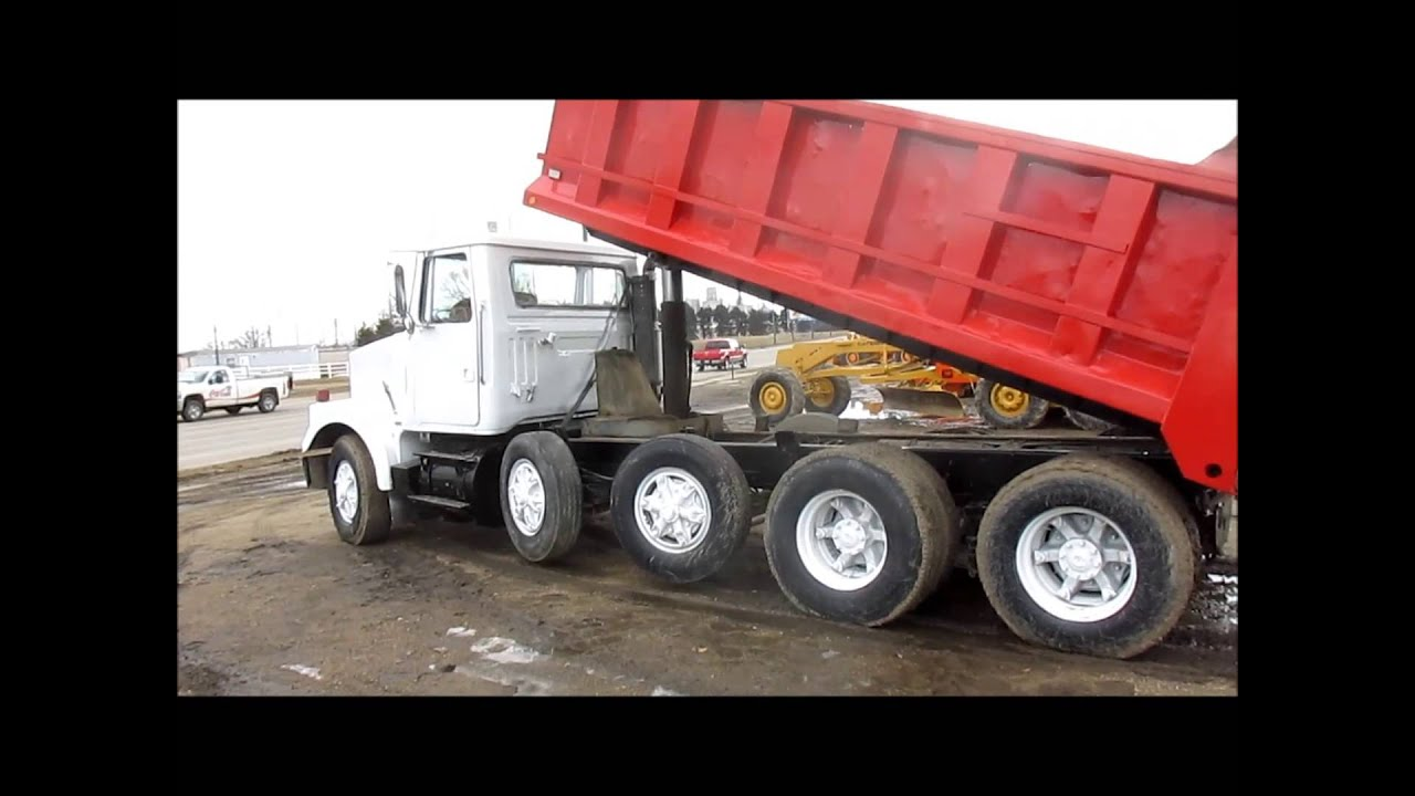 medium resolution of 1984 volvo white dump truck for sale sold at auction april 24 2014