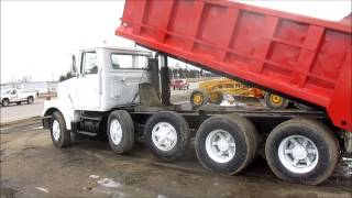 1984 Volvo White dump truck for sale | sold at auction April 24, 2014