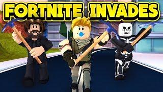FORTNITE INVADES JAILBREAK BATTLE ROYALE! (ROBLOX Jailbreak)
