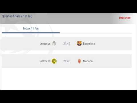 Champions league schedule
