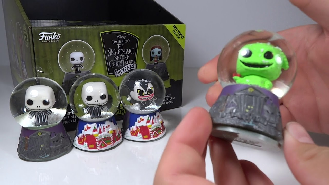 unboxing funko nightmare before christmas snow globe mystery minis hottopic exclusive part 2 - Nightmare Before Christmas Snow Globes