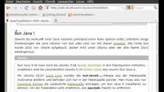 Ubuntu 10.10 : Java installieren
