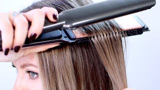 Hair Comb Attached To Flat Iron... Is it GENIUS?!