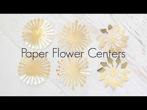 How to make giant paper flower centers and pompom centers