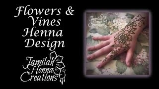 Flowers and Vines Henna Design