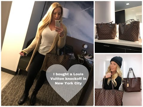 I Bought A Louis Vuitton Knockoff In New York City //Buying Luxury Designer Dupe