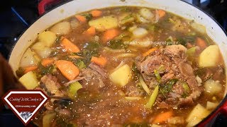 CAROLYN'S OXTAIL SOUP- DELICIOUS & STICKS TO YA RIBS |Cooking With Carolyn