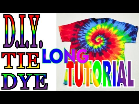 DIY Tie Dye Rainbow Spiral Shirt [Long Tutorial] #36