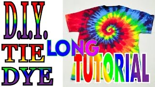DIY Tie Dye Rainbow Spiral Shirt [Long Tutorial] #36