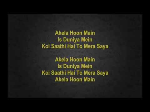 Akela Hoon Main Is Duniya Main -  Baat Ek Raat Ki - Full Karaoke