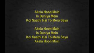 akela hoon main is duniya main baat ek raat ki full karaoke