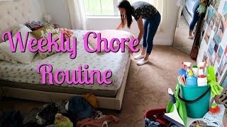 Our Weekly Chore Routine! Speed Clean with Me 2019! | Emma and Ellie