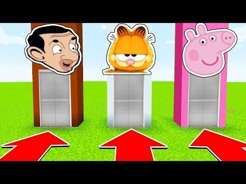 NE CHOISISSEZ PAS LE MAUVAIS ASCENSEUR MINECRAFT !! MR BEAN, PEPPA PIG,GARFIELD ! | troll kikoo fr