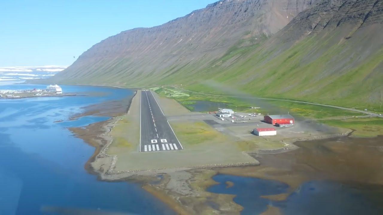 Extreme Airport Landing In Iceland Ísafjörður HD YouTube - Airports in iceland
